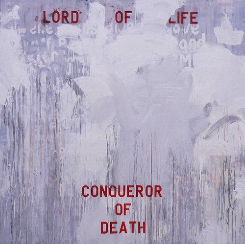 Zavier Ellis 'Lord of Life', 2006 Acrylic, house paint, spray paint on board 200x200cm
