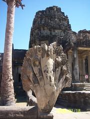 Seven-headed Naga at Angkor Wat