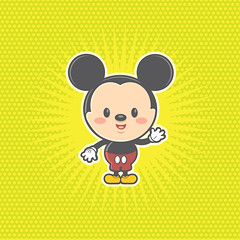 Kawaii Mickey Mouse (Jerrod Maruyama) Tags: cute illustration happy disney mice kawaii mickeymouse cuties childrensillustration maruyama