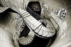 Unica salida (Jos Andrs Torregrosa) Tags: urban blancoynegro blackwhite grafiti salida urbana cartagena escaleras virado joseandres 10mm sigma1020 40d canon40d muchomasmayo josetorregrosa