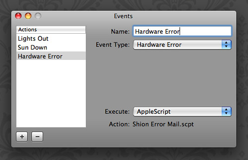 Shion: Taking action on hardware errors