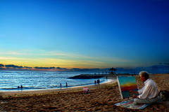 Bali : Sanur Beach Painter :