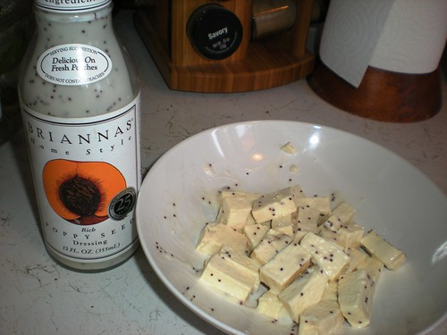 Tofu + Poppyseed dressing