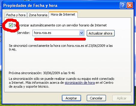 hora.roa.es XP