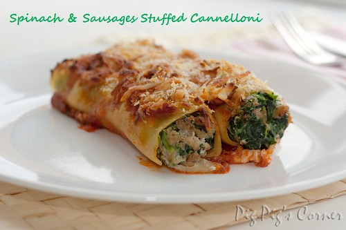 Spinach & Sausages Stuffed Cannelloni 2