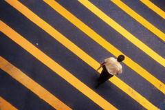 On The Grid (HK Buckeye) Tags: man film lines walking fuji geometry pedestrian slide scan fujifilm crosswalk fujichrome sensia nikonf90x sensia100 fujifilmfujichromesensia100 hkpcbest2009 hkpcshowcase