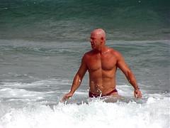 Bondi_032 (RHColo_General) Tags: ocean man men beach bondi 2000 muscle bare chest sydney australia hunk nsw olympics speedo bondibeach
