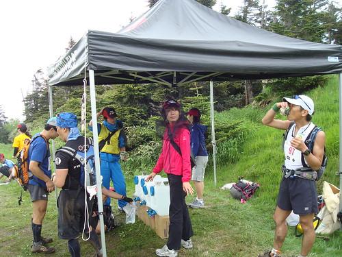 shiga-kogen trailrun 50k cp2&aid station