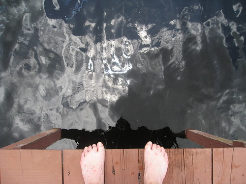 Black water. Also note the mosquito bites on Chriss feet