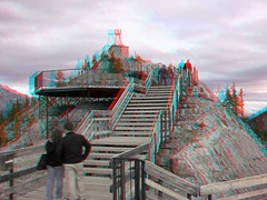 Sulphur Mountain, Banff National Park (Redbeard Math Pirate) Tags: canada stereoscopic 3d anaglyph stereo banff gondola redblue sulphurmountain banffnationalpark anaglyphic threedimensional redcyan 3dpictures