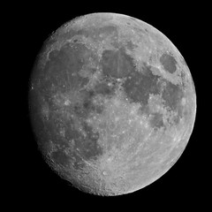 The Moon in B&W (Aug. 2, 2009)