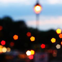 Evening, Paris {EXPLORED!} (edwardkb) Tags: light sunset blur paris france luz lamp canon evening interestingness glow traffic bokeh explore dslr jardinduluxembourg eos400d digitalrebelxti placedupantheon