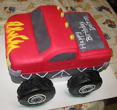 Monster Truck 1 (r_dawn_dew) Tags: red cake monstertruck fondant