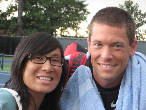 Travis Parrott and Isabelle Chrun at Montreal Rogers Cup 2009