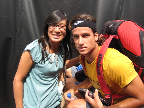 Feliciano Lopez and Isabelle Chrun
