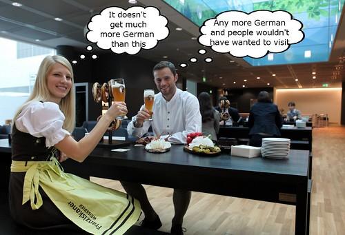 Lufthansa Beer Garden