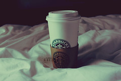 Ⓥ Lazy Morning.. (- M7D . S h R a T y) Tags: white cold coffee bed hotchocolate starbucks wordsbyme ®allrightsreserved™