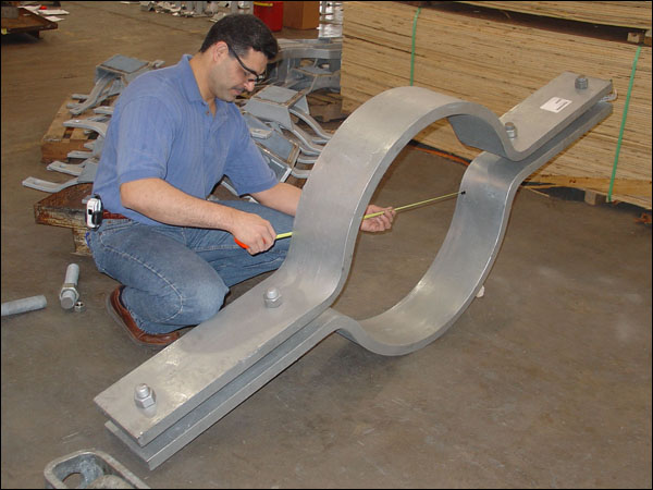 Riser Clamp for a 30″ Diameter Vertical Pipe at a Power