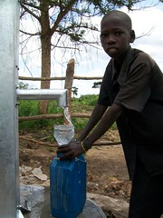 Collecting water to bring back home