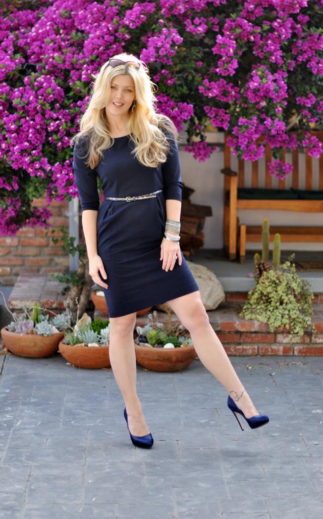 Calvin Klein dress+ferragamo  pumps