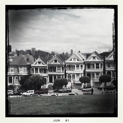the painted ladies in black and white