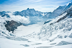 The Eismeer (Thierry Hennet) Tags: morning blue white mountain snow alps ice nature zeiss landscape switzerland suisse sony scenic glacier icy eiger jungfraujoch cloudysky berneroberland berneseoberland mountainrange traveldestinations a900 europeanalps cz2470mmf28 lemerdeglace