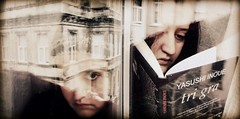 double tagged:) (Eni Turkeshi Imagery) Tags: portrait people urban reflection texture me window face myself fun eyes diptych artistic grunge citylife lifestyle atmosphere tagged expressionist conceptual cinematic emotions pleasure avantgarde bookreading vido afterthought marielito canonixus60 fotografkiraathanesi fotografeshqiptare independentphotos autumninside fotografca dostr reradingibook hsienku fshdip