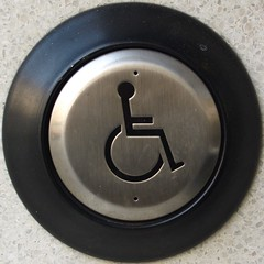 Push to Open (chrisinplymouth) Tags: squircle wheelchair disabled doorbell squaredcircle pushtoopen disability circle cw69x disablity round circular