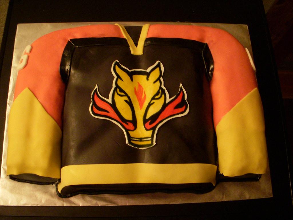 Mustangs Hockey Jersey Cake