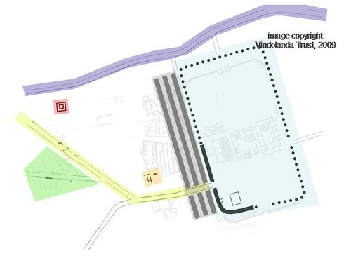 Currently visible Period VII-X fort & settlement structures