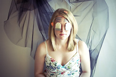 (morgan.laforge) Tags: girl hair dress tea blond bags cloth veils