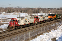 SOO 6039 (John Fladung) Tags: railroad train sooline soo6036 soo6039 cpbntransfer bnsf7888