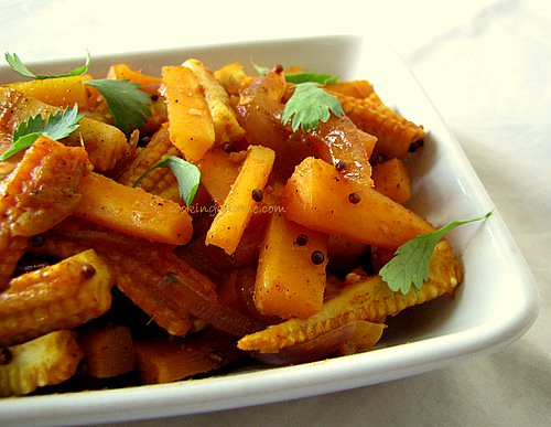 Carrot and Baby Corn Stir-Fry Recipe | Indian Baby Corn Recipes