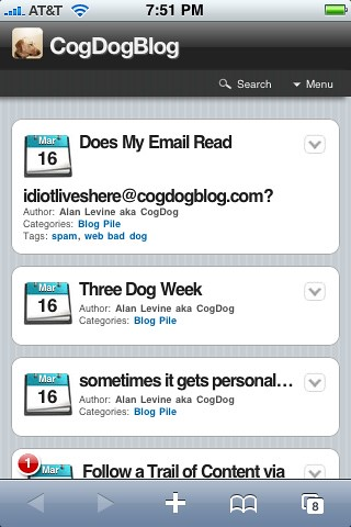 CogDogBlog a la iPhone