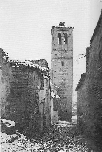 Iglesia de San Sebastián (Toledo) a principios del siglo XX. Foto Rodríguez