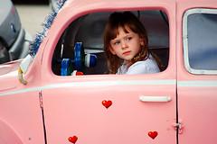 She was a day tripper (Nilton Ramos Quoirin) Tags: pink brazil girl car brasil kid child candid sopaulo beetle rosa sp carro driver guria garota criana menina fusca motorista camposdojordo daytripper