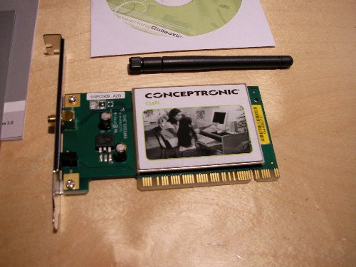 Conceptronic 54g wireless pci card