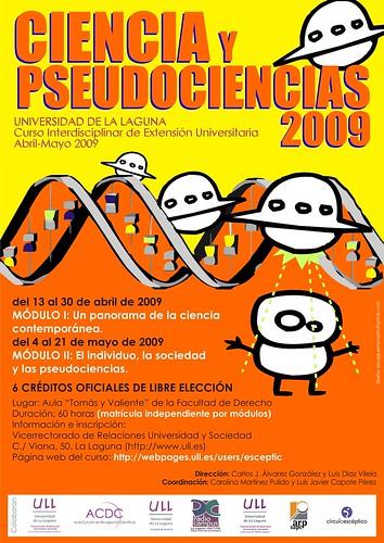 Cartel Ciencia y pseudociencias 2009