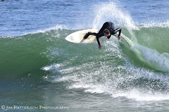 Surf's Up in Santa Cruz! (Jim Patterson Photography) Tags: ocean california sea santacruz sports photography spring surf waves pacific action surfer surfing steamerlane wetsuit shortboard westcliffdrive gitzotripod wimberleysidekick nikkor500mmf4p nikond300 markinsm20 nikonmbd10 beneathblueseas beneathblueseascom jimpattersonphotography jimpattersonphotographycom seatosummitworkshops seatosummitworkshopscom