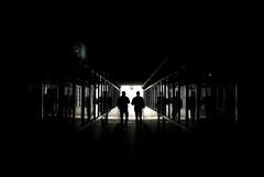 """Sottopasso (Marco Mattana """"desmobts"""") Tags: sardegna gente tunnel bn ombre amici riflessi amicizia bianconero controluce buio camminare sottopasso cunicolo desmobts"""