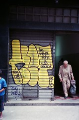KET in Sao Paulo, Brasil, 2008 (KET ONE) Tags: brazil yellow graffiti throwup ket alanket