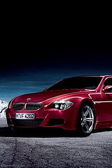 IPhone Wallpaper in red car BMW