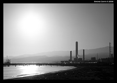 The Tower (simone|cento) Tags: bw tower refinery
