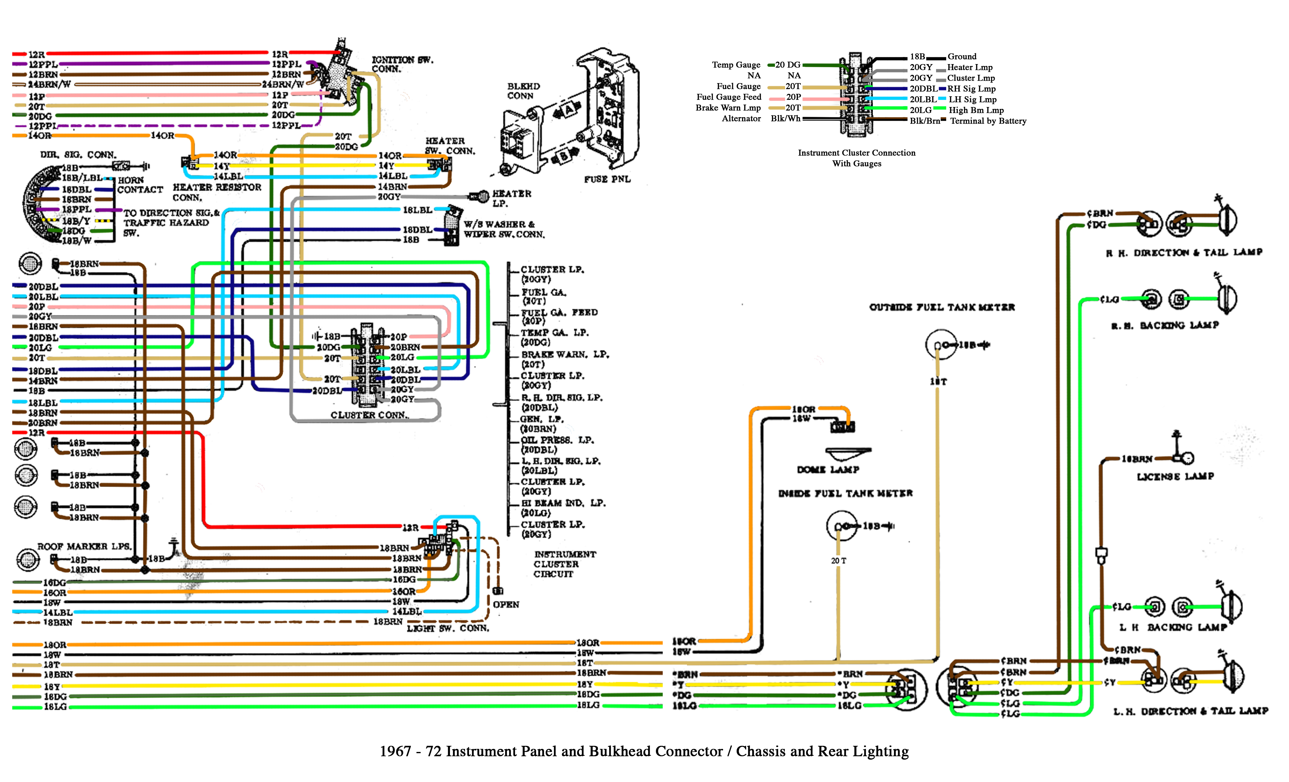 color wiring diagram finished the 1947 present chevrolet gmc rh 67 72chevytrucks com 68 chevy truck wiring diagram 1968 chevy c10 wiring diagram