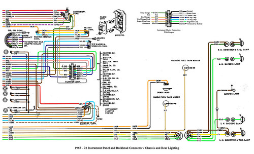 color wiring diagram finished the 1947 present chevrolet 1971 Chevy Wiring Diagram