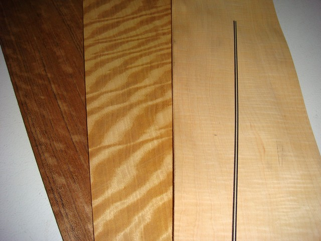 Materials (Mozambique, Nigerian Satinwood, Curly Maple, Banding Material)