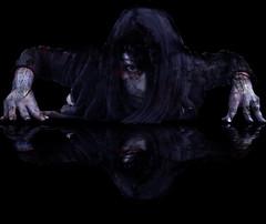 she's back (The Ghost of a Flea) Tags: black eye girl hair dead living skin finger pale tips staring crawling scars theghostofaflea kensai76