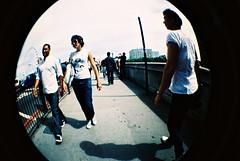people on a bridge (Smokey McPot) Tags: bridge people london fisheye