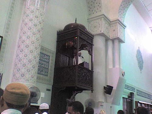 Khatib on Minbar khutbah