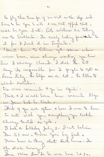 letter from Aunt Katherine - 1976